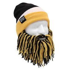 Pittsburgh Steelers Yellow Black Knit Football Beard Ski Face Mask & Winter Hat