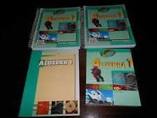Bob Jones BJU ALGEBRA 1 Set homeschooling highschool textbook Te workbook