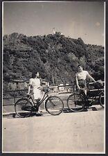 YZ0262 Valsolda - Oria - Gita in bicicletta - Fotografia - 1939 vintage photo