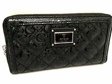 GUESS Women's Wallet *Black w/ G Logo Clutch IPhone 6 + New