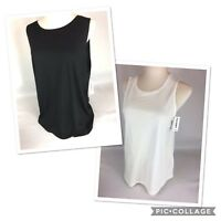 Old Navy Hi Lo Swing Tank Top in Black & White Size S. M, L, XL, XXL - NEW