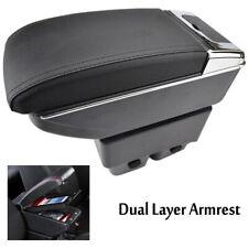 Arm Rest Centre Console Storage Box Armrest Black For Ford Fiesta Mk7 09-17 UK