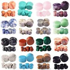 Organic Stone Ear Gauges Saddle Double Flared Ear Flesh Tunnels Plugs 2G - 5/8""