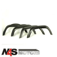 LAND ROVER DEFENDER 1983 TO 2006 STANDARD GLOSS BLACK WIDE WHEEL ARCH KIT. TF280