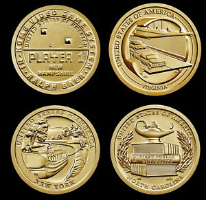 """2021 Receive All 4 American Innovation """"Brilliant Uncirculated"""" US Dollar Coins"""