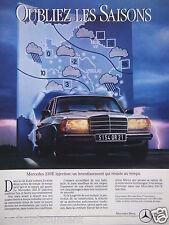 PUBLICITÉ 1983 MERCEDES 230 E OUBLIEZ LES SAISONS - ADVERTISING