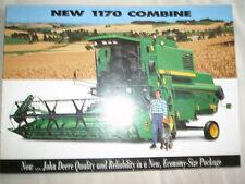John Deere 1170 Combine brochure Sep 1996