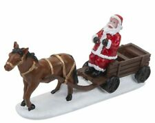 Mini Christmas Village Santa With Carriage And Horse In Snow