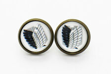 Recon Corps Logo Earrings Eren Yeager Attack on Titan The Survey Corps Studs