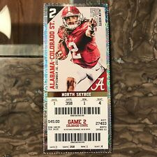 2017 Alabama vs Colorado State Ticket Stub JALEN HURTS 09/16/2017 NM+ 358 1 4