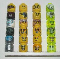 Lego ® Minifig Head Tête Personnage Visage Ninja Ninjago Choose Model ref 3626