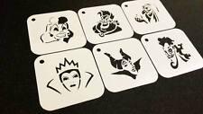 Cattivi Disney Style Princess Set di 6pcs Stencil Disegnare Decorazione Festa