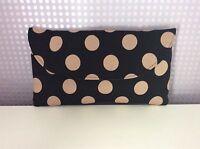 Black Polka Dot Black & Cream Polka Dot Clutch Bag