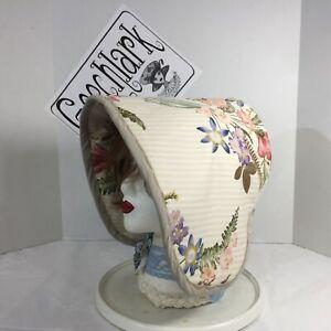 Victorian bonnet hat  bucket Civil War reenactment floral 6193