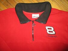 DALE EARNHARDT FLEECE JACKET Pullover Coat Sewn Logo NASCAR Racing vtg MEDIUM