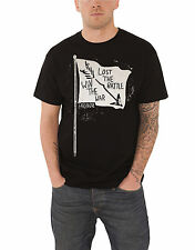 Paramore T Shirt Win the War Flag band logo new Official Mens Black L