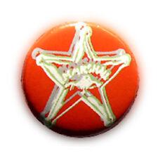 Badge ESTRELLA MARSHALL SHERIF ROJO étoile sheriff cowboy country pop pin Ø25mm.