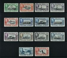 FALKLANDS, KGVI, 1938 / 50, 14 stamps from set to 1s.3d. value, MM, Cat £112.