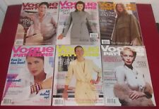 Job Lot 6 VOGUE PATTERNS MAGAZINES 1999 Fashion Lifestyle Chic