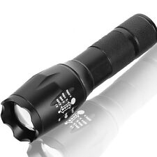 Tactical Police 10000LM LED 18650 Flashlight Focus Torch Zoom Lamp Light