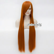 100CM Long Straight 17 Colors Heat Resistant Women Party Basic Hair Wig Cosplay