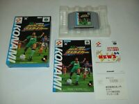 Jikkyo J League Perfect Striker Boxed Nintendo 64 N64 KONAMI Japan import