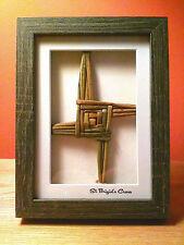 St Brigid's Cross /St Bridget's Cross Handcrafted Cross 3 D Box W /Free Bookmark