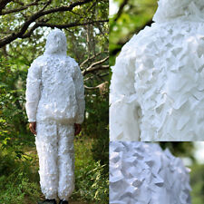 3D Sniper Military Hunting Snow Camo Camouflage Mesh Net Ghillie Suit Traning