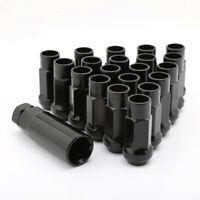 20PC Black 12x1.5 Extended Steel Wheel Rim Tuner Lug Nuts Taper Acorn For Toyota