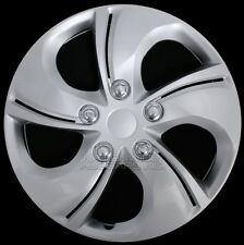 "15"" Set of 4 Wheel Covers Snap On 5 Spoke Full Hub Caps fit R15 Tire & Steel Rim"