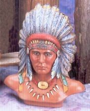 Ceramic Bisque Native American Indian Chief Bust U-Paint Unpainted