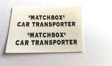 LESNEY/MATCHBOX Nº A2 Bedford articulé Voiture Transporteur Decal Set seulement Pre-Cut