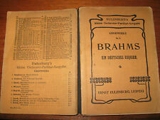 Brahms, Chorwerke No 2, Ein Deutsches Requiem, Ernest Eulenburg