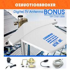 Outdoor Digital TV Antenna Amplified Aerial booster DAB+ UHF/VHF Caravan RV Boat