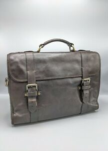 Mulberry Elkington Laptop Bag/Briefcase in Chocolate Brown Leather
