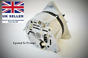 Classic Lucas Mini alternator up rated 75 amp A127 type