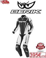 Tuta Moto Professionale In Pelle Berik Race-X  Biamco/Nero Utimo Pezzo 50