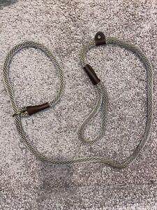 Mendota - Dog Leash - British Style Slip Lead - Tan/brown -  6 Foot