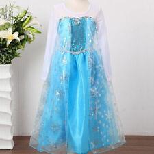 Girls Princess Frozen Snow White Cinderella Cosplay Costume Fancy Dress Clothes