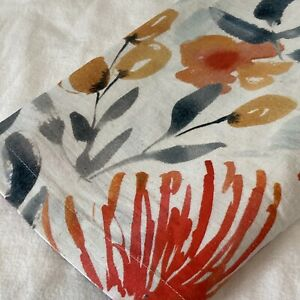 """Crate & Barrel Vale 14"""" x 120"""" Table Runner Watercolor Floral on White"""
