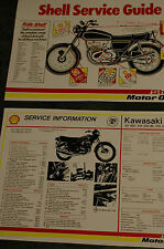 Kawasaki KH 250 - S1 250 - KH400 - S3 400 Triples - Shell Service Sheet