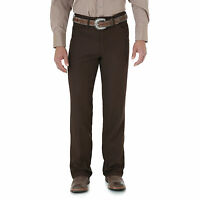 Mens New Wrangler Wrancher® Dress Western Cowboy Fits Over Boots Jean Brown
