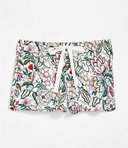 Ann Taylor Loft - Floral Pajama Shorts - Whisper White ~ Large - NWT