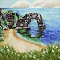 Durdle Door by Judith Yates Decorative Ceramic Picture Tile Wall Plaque Gift
