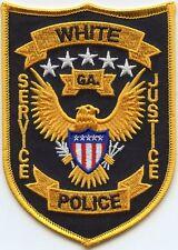 WHITE GEORGIA GA Service Justice POLICE PATCH