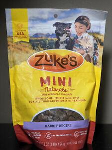 Zuke's: Mini Naturals - Rabbit Recipe - 1 LB - NEW - Exp 5/22