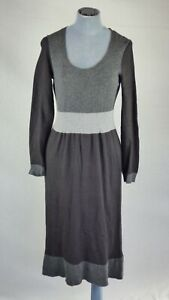 Boden Angora Cotton Cashmere Jumper Sweater Dress Fit & Flare Color block 10