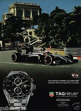 Publicité advertising 2014 Montre Tag Heuer Carrera Calibre 1887 GP Monaco