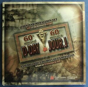 Canada 2004 - 60th Anniversary of D-Day Set -- Medallion and Silver Proof Nickel