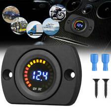 Waterproof 12v Led Voltmeter Voltage Meter Battery Gauge For Car Motorcycles Cs